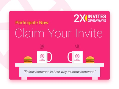 2 Invite Giveaway (Claim It Now) creativeboxx boxx creative dribbble giveaway invite design ux ui