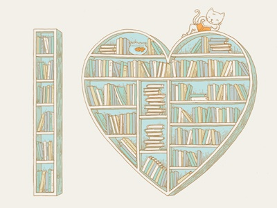 I  <3 Books books book heart typography love i heart bookcase