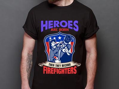 Firefighter T-shirt Design