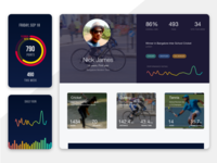 Sports Networking Dashboard