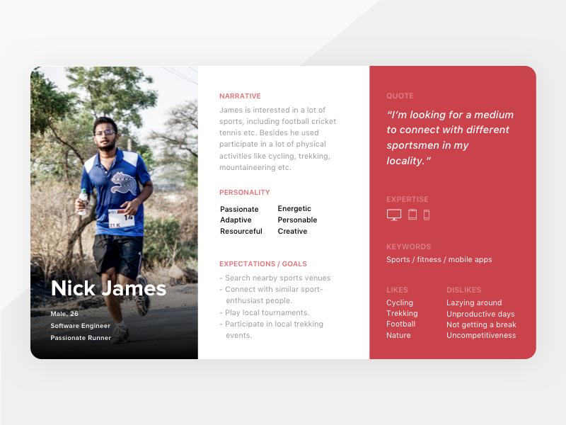 User Persona Card process design ui profiles personas persona minimalism grey clean card beautiful