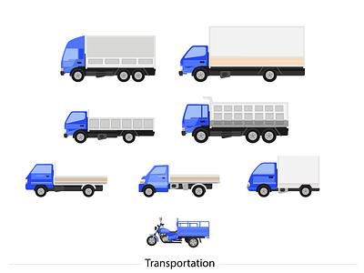 Illustration Indonesian Transportation illustrator website app icon illustration flat design vector