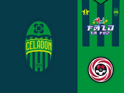 Celadon FC logo soccer football pokemon