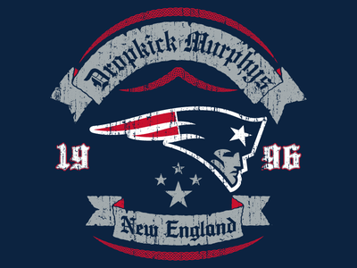 Dropkick Murphys x New England Patriots patriots dropkick murphys myteammycity nfl