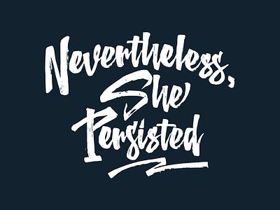 Nevertheless She Persisted feminism type elizabeth warren politics