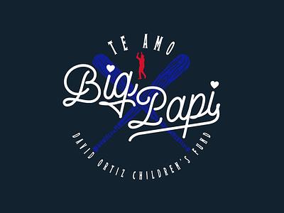 Te Amo Big Papi vintage charity baseball david ortiz tee