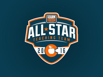 Learn Fresh All-Star Teaching Team colorado sport teacher badge crest