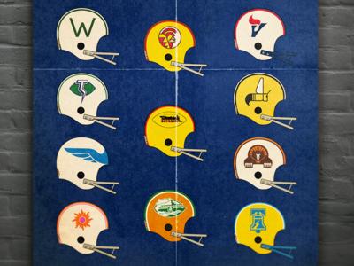 World Football League 1975 wfl vector design football