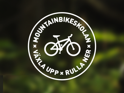 Mountainbikeskolan Logo mountain bike school mtb logo logotype identity