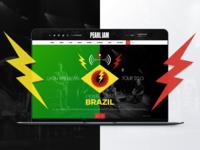 Pearl Jam - Redesign Concept - Web Design (Case Study)