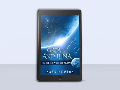 eBook Cover Design concept for 'Gaia and Luna' poster