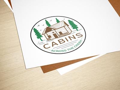 Logo Design Concept for 'Cabins Across the Creek' webui