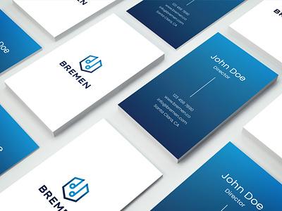 Business Card Design Concept for 'Bremen' webui