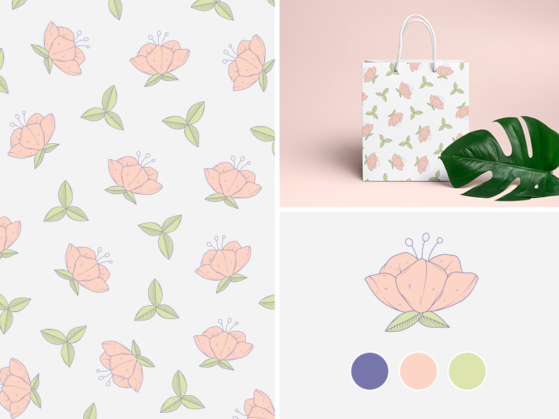 Flower Pattern / Free Vector design packaging free vector drawing pattern flower