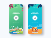 Shake & Win - Spring / Summer summer spring seasons travel product design campaign giveaway uidesign app design