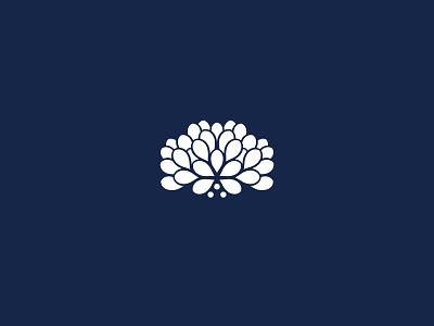 Dahlia Logo vector white blue flower dahlia icon brand logo