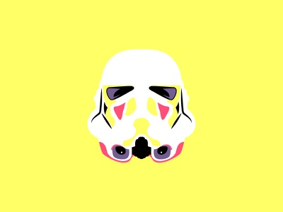 Clone Trooper Color Edition art direction vector violet pink yellow minimal colorful illustration clone trooper star wars