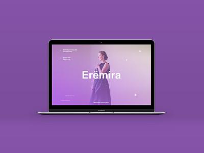 Erëmira | Web Design color purple design musician gradient flute web website concert music