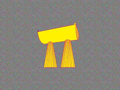 K2.0 Magazine Illustration colorful grain print city monument architecture icon lines yellow editorial magazine illustration