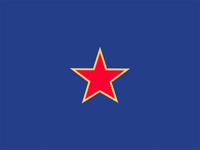 K2.0 Magazine Illustration minimal line red blue icon star editorial magazine illustration