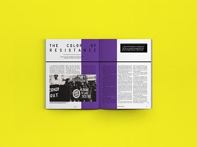 Kosovo 2.0 - Editorial Design print mockup minimal violetdesign black yellow magazine layout editorial