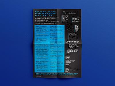 Me t'Njofshem - Poster layout print typography flyer poster album music