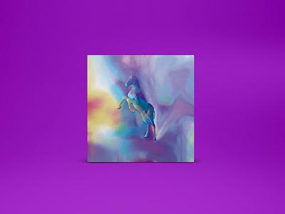 MTNJ - Album Art Cover metallic minimal emboss rainbow colorful horse gradient illustration album-art music cover