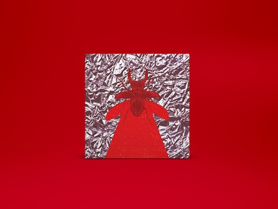 MTNJ - Album Art Cover bug wings red metallic fly insect illustration album-art music cover