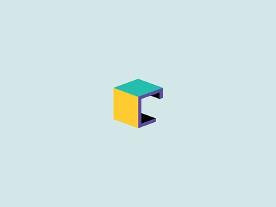 Creature Paris - Logo typography icon letter minimal vector colors 3d box c logo