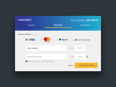 Daily UI 002 Checkout form