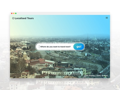 Daily UI 003 - Landing Page go tour localised travel ui landing page daily ui dailyui