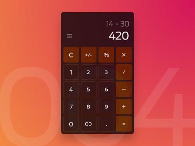 Daily UI 004 - Calculator 420 daily ui daily ui calculator