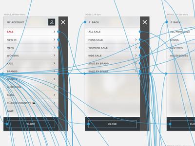 Mobile Nav Wireframes
