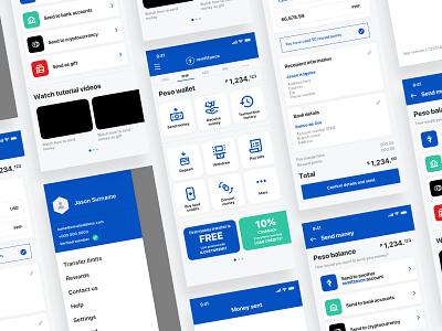 Remittance app ux mobile ui money transfer money app finance app finance money fintech remittance