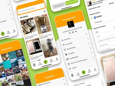 Second hand app platform dailyui user experience ui mvp mockup app ux kit sale 4sale sell buy buy sell ecommerce 2ndhand secondhand