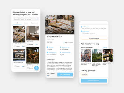 Travel & experience booking ux user experience design user interface design user experience user interface userinterface japanese japan experience ui mobile travelers traveler travellers traveller travel agency travelling traveling travel app travel