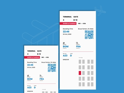 Boarding Pass boarding pass interaction design dailyui user interface design ui uidesign