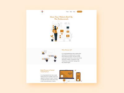 Illustrated Website design web design ux illustration website design website design web ui