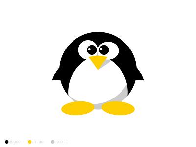 Minimalist Linux Logo yellow logo black  white round logo flat  design flat illustration flat design logo design logodesign icon redesigned redesign minimalistic minimal minimalist logo design minimalist design minimalist logo minimalism flatdesign flat minimalist