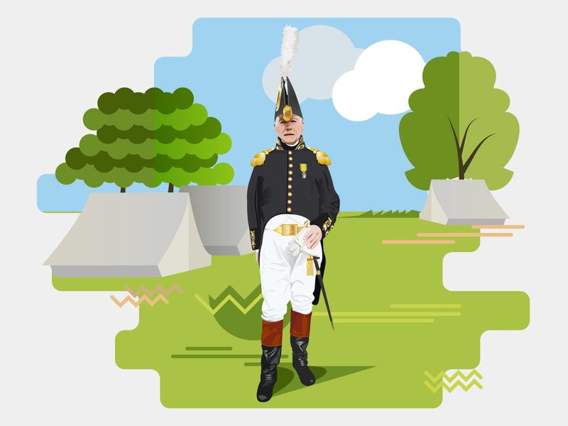 Man In Uniform Vector Illustration By Designrar