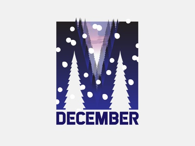 Typography: Letter M with December Effect customtype typeface creative creative design snowflake bushfire woods trees letter lettermark lettering december t shirts t shirt designer t shirt design t shirt art typography logo typography design typography art typography