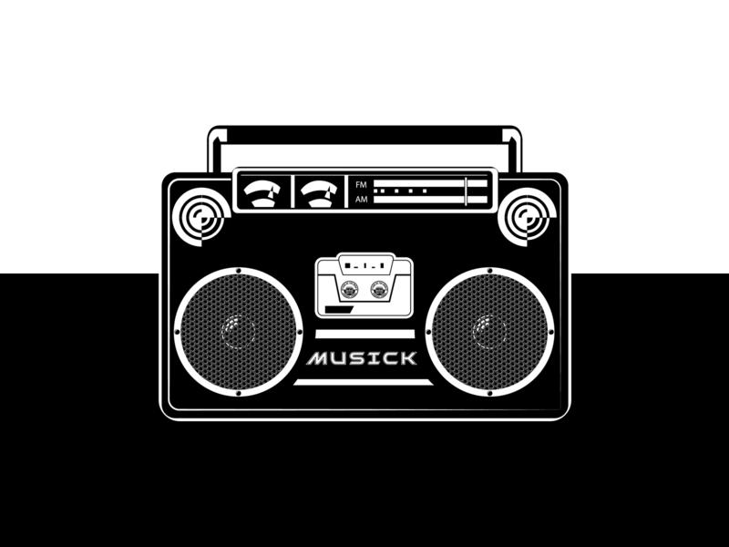 Old School Boom Bap Radio Vector Illustration