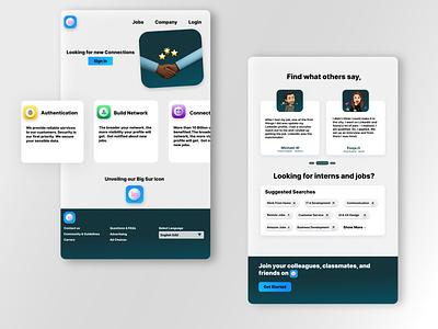 Linkedin Redesign Concept design dribbble beginner bigsuricon suricon redesigned shadows redesign