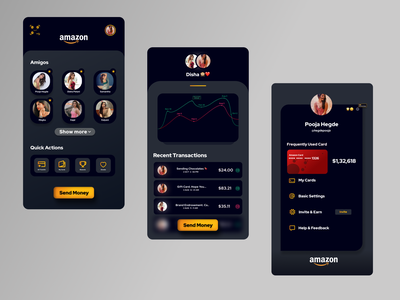 Amazon Pay - Concept redesign mobileapp credit card creditcard payment paymentapp