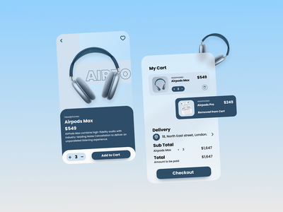 The Airpods Max Shop Concept 🎧🥁 ux mobileui mobileappdesign mobileapp mobiledesign mobile apple airpods uidesign uiux blurdesign blur
