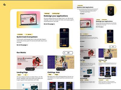 Portfolio Concept ❤🚀 blogdesign blog yellow uiuxdesign uidesign webapp webdesign web portfolio page portfolio site portfolio uiux
