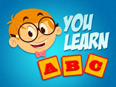 You Learn ABC! illustration logo character kids cartoon