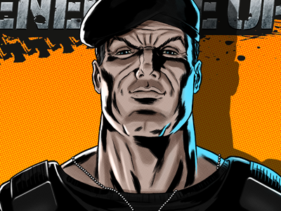 Bryant fron Renegade OPS for Movember sega renegade ops video game movember charity