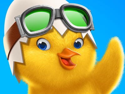 Easter 2012 chick character easter cartoon mascot swedish