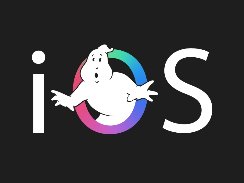 iOS x Ghostbusters logo ios ghostbusters